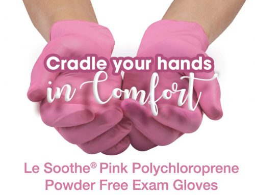 Le Soothe® Pink Polychloroprene Non-Latex Exam Gloves