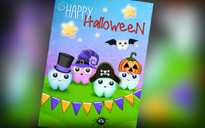 dental halloween cards
