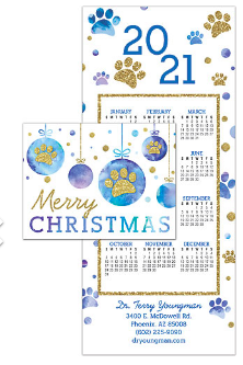 Tri-Fold Calendar Card
