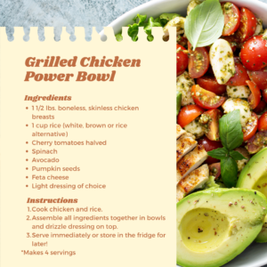 grilled chicken power bowl recipe