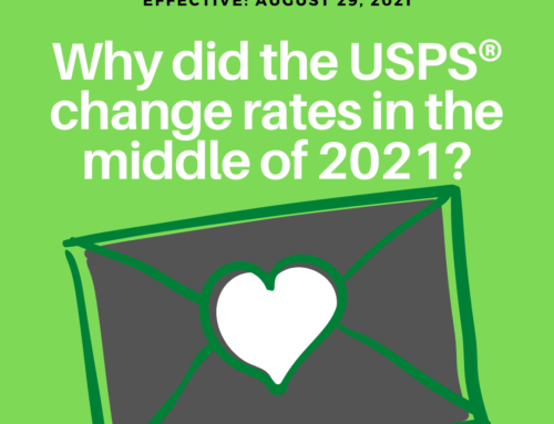 Why did the USPS change rates a 2nd time during 2021?